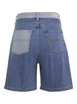 Shorts Tommy Jeans Contrast Panel Denim Damen
