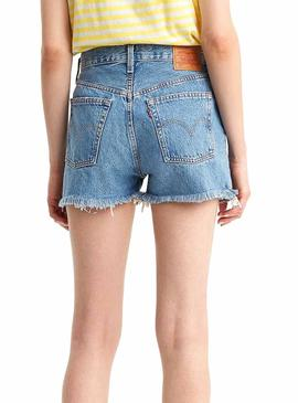 Short Levis 510 High Rise Blue Damen