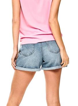 Shorts Only Lola Mom Midi Blau Woman