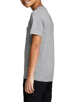 T-Shirt Jack and Jones Pocket Grey Junge