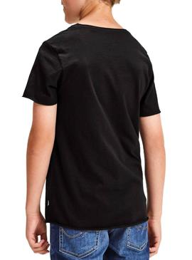 T-Shirt Jack and Jones Ebas Schwarz Junge