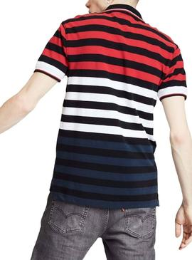 Polo Levis Modern Multi Stripes Herren