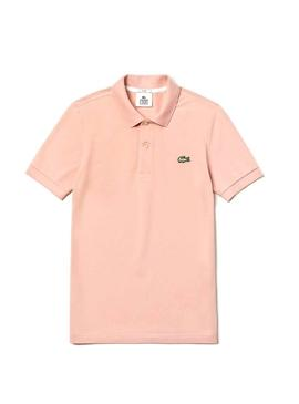 Lacoste Live Unisex Stretch Pink Polo