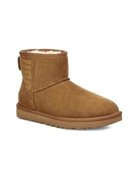 Stiefelettes UGG Classic Mini Rubber Log Chestnut