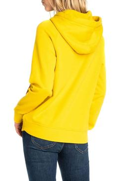 Sweatshirt Lee Basic Hoody Gelb Damen