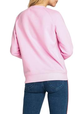 Sweatshirt Lee Plain Pink Damen