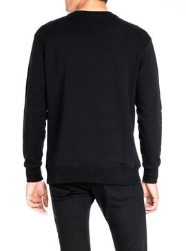 Sweatshirt Lee Velour Black Herren