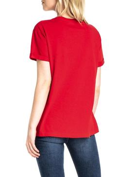 T-Shirt Lee Chest Logo Tee Rot Damen