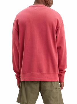 Sweatshirt Levis Authentisches Logo Rot für Herren