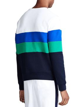 Sweatshirt Polo Ralph Lauren Colorblock Weiß