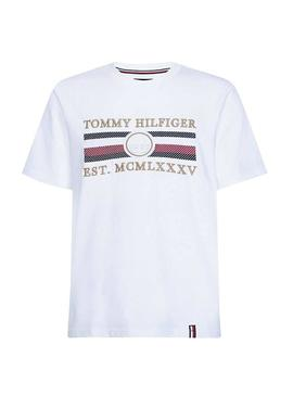 Camiseta Tommy Hilfiger Icon Stripe Blanco Hombre