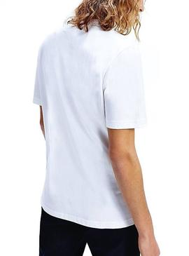 Camiseta Tommy Hilfiger Flags Blanco Para Hombre