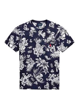 T-Shirt Polo Ralph Lauren Tropical Dunkelblaue