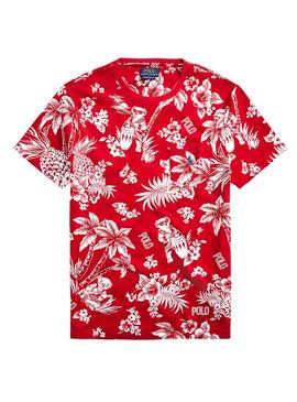 T-Shirt Polo Ralph Lauren Tropical Rot Herren