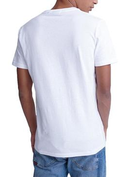 T-Shirt Superdry Core Essential Weiße Herren