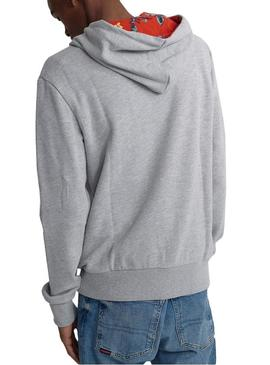 Sweatshirt Superdry Super 5 Hood Graue Man