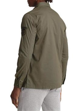 Hemd Superdry Core Military Patched Grün Hombre