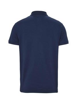 Polo Tommy Jeans Classic Solid Blau für Herren