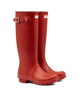 Stiefelette Hunter Original Tall Rot Mate für Damen